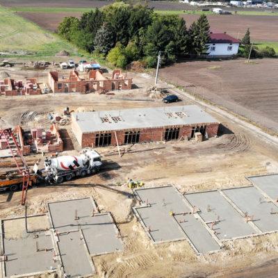 Złoty Jasieniec budowa - zdjęcie z drona