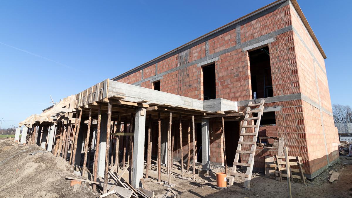 Złoty Jasieniec - zdjęcie z budowy luty 2020